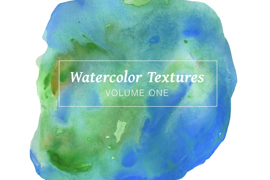 Blue Watercolor Textures - Volume 1