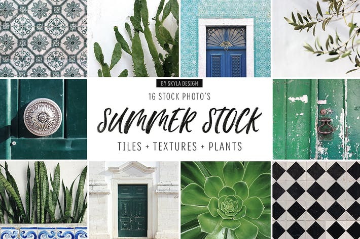 Thumbnail for Summer stock, tiles, texture, plants