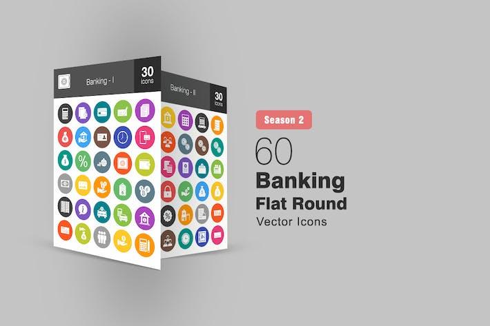 Thumbnail for 60 Banking Flat Round Icons Season II