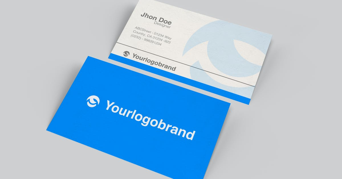Download Simple Business Card Product Mockup by queentype