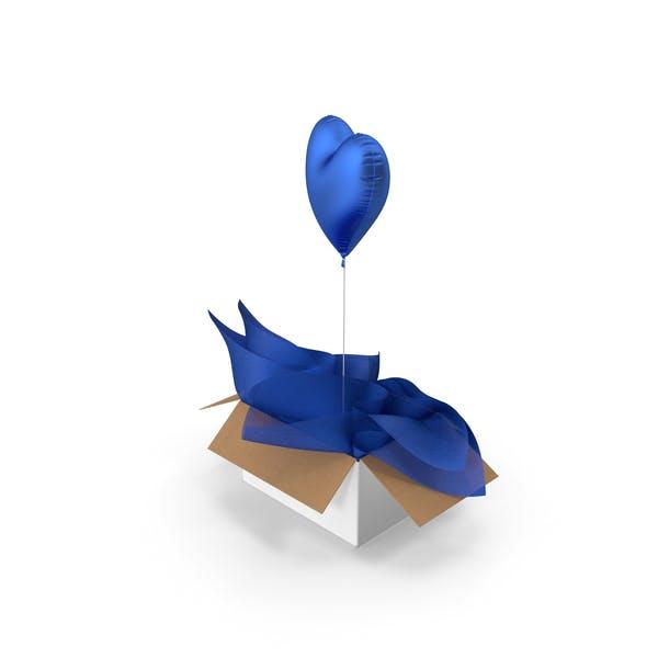 Blue Heart Balloon Surprise Box