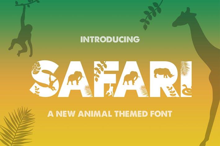 Thumbnail for Safari Silhouette Font