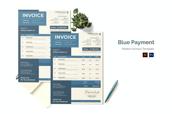 Thumbnail for Blue Payment Invoice