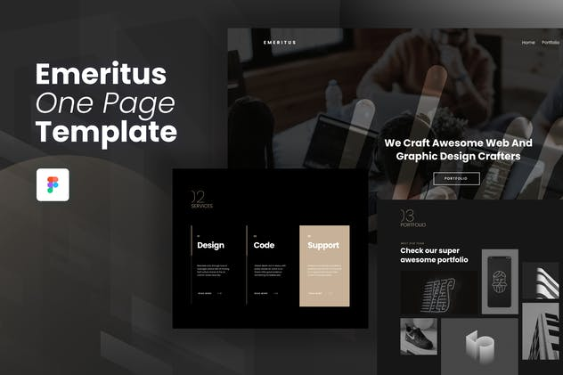 Emeritus - One Page Website Template