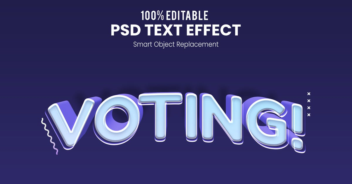 Download Voting - Fun 3d Text Effect by nathatype