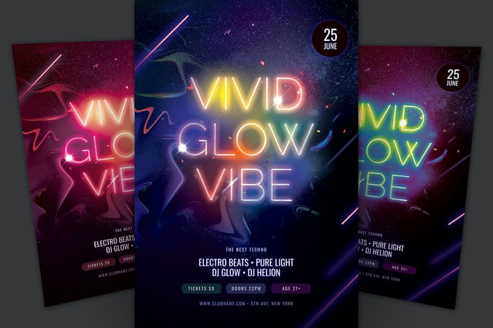 Thumbnail for Vivid Glow Flyer