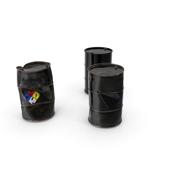 Chemical Barrels NFPA 704 Set