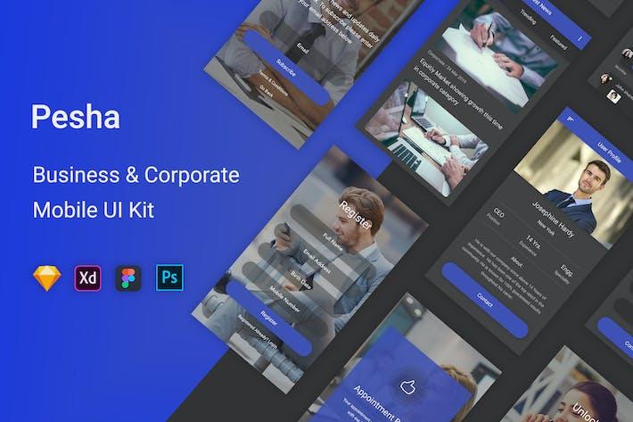 Thumbnail for Pesha - Business & Corporate Mobile App UI Kit