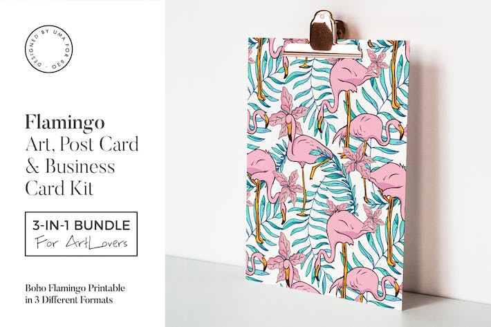 Thumbnail for Boho Flamingo Art & Stationary Kit