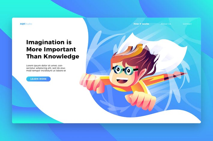 Thumbnail for Kid Imagination - Banner & Landing Page