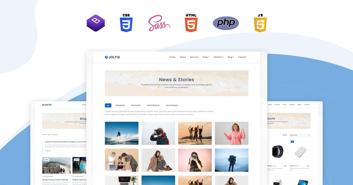 Download Joltix - Minimal Portfolio & Agency Template by themesdesign