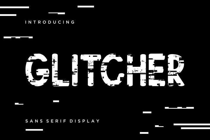 Thumbnail for Glitcher Sans Serif Display