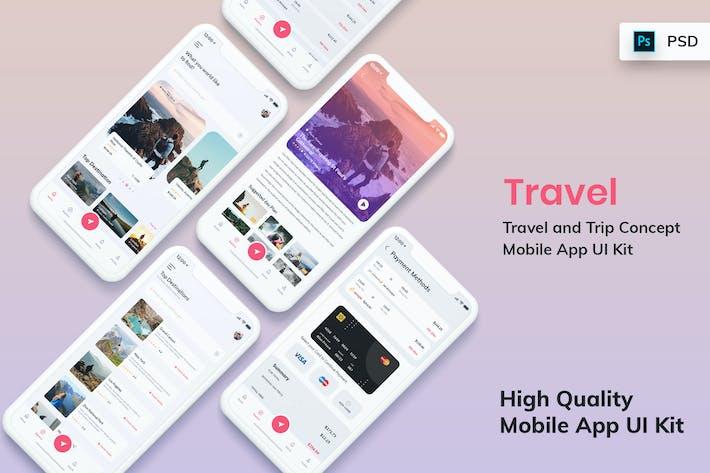 Thumbnail for Tour & Travel Booking Mobile App UI Kit Light