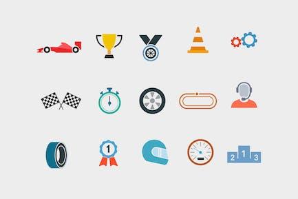 15 Íconos de carreras de coches