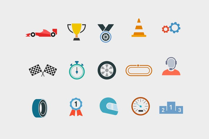 Thumbnail for 15 Car Racing Icons