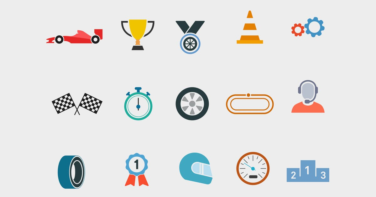 Download 15 Car Racing Icons by creativevip