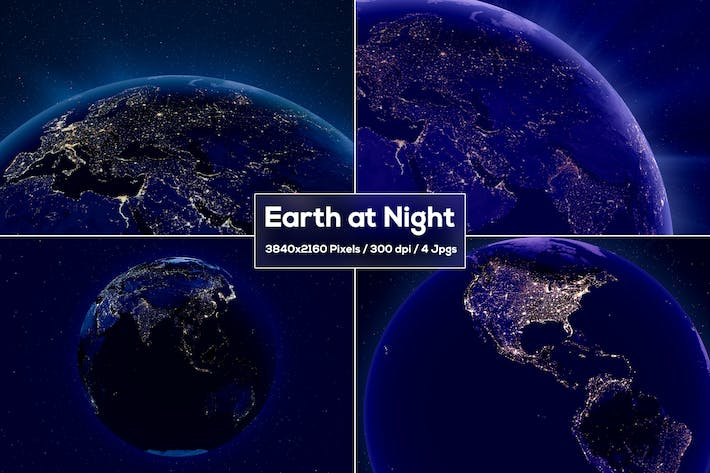 Thumbnail for Earth Night Backgrounds