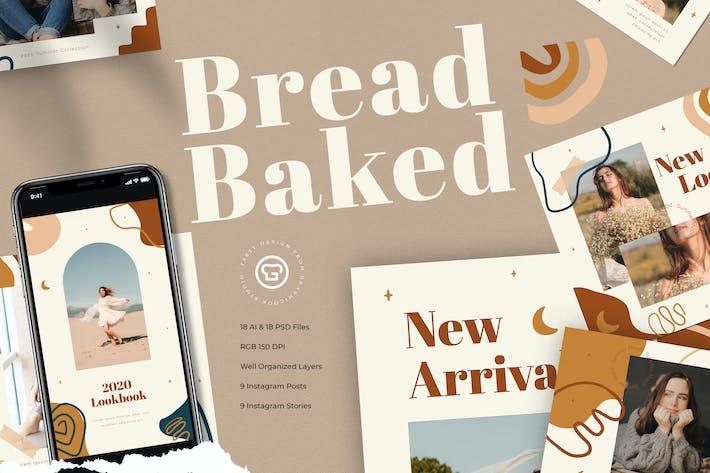 Thumbnail for Bread Baked Instagram Pack