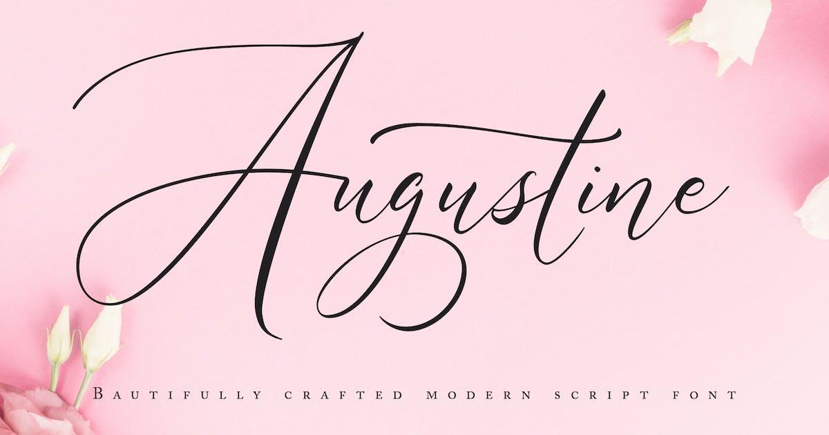 Download Augustine | Modern Script Font by Vunira