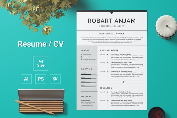 Thumbnail for Resume Template 97