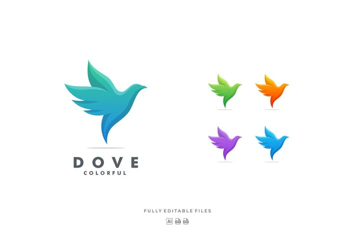 Thumbnail for Dove Gradient Colorful Logo
