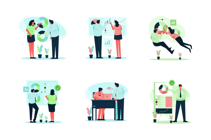 Thumbnail for Business Illustration Pack (3 Variation)