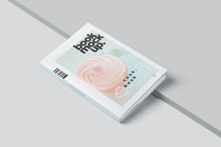 Thumbnail for Hardcover-Buch mit Schutzumschlag Mock Ups