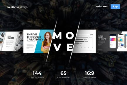Move Animated Keynote Template
