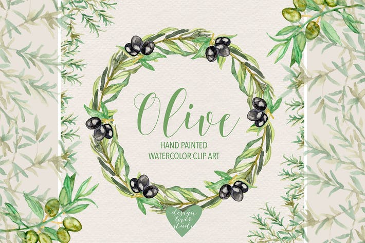 Thumbnail for Aquarelle olive clipart