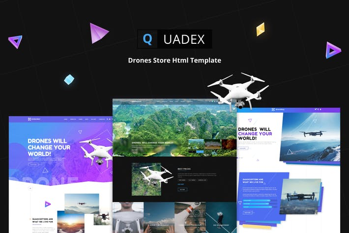 Thumbnail for Quadex | Drones Store Modèle Html