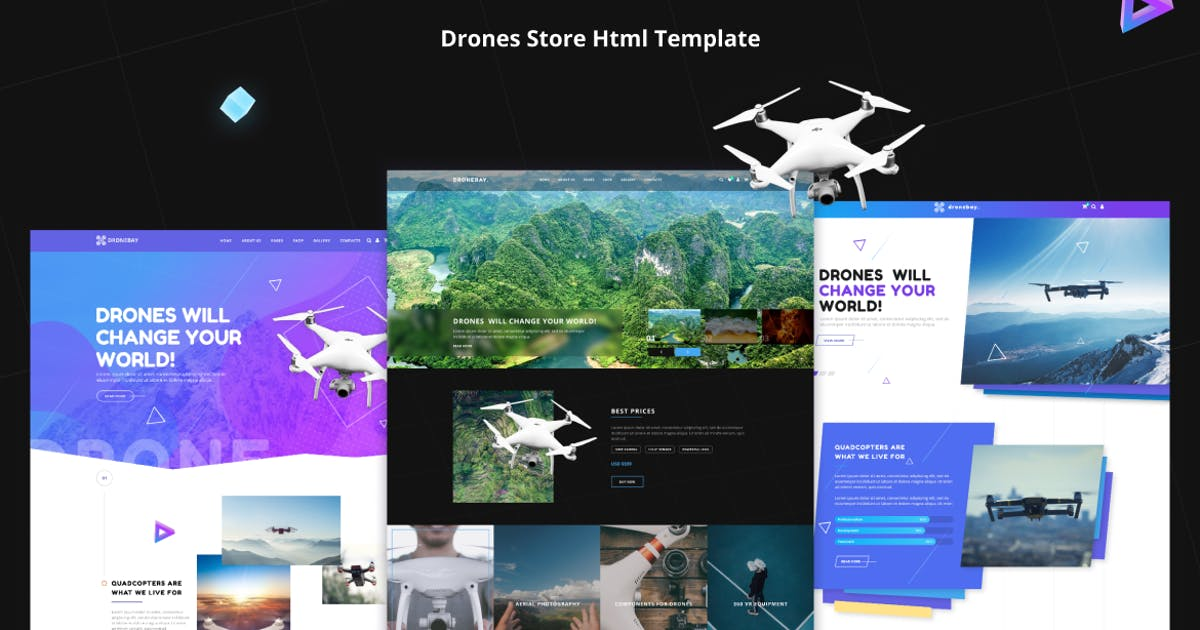 Download Quadex | Drones Store Html Template by Rovadex