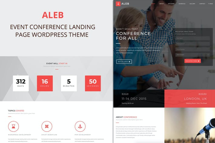 Thumbnail for Aleb - Event Conference Onepage WordPress Theme