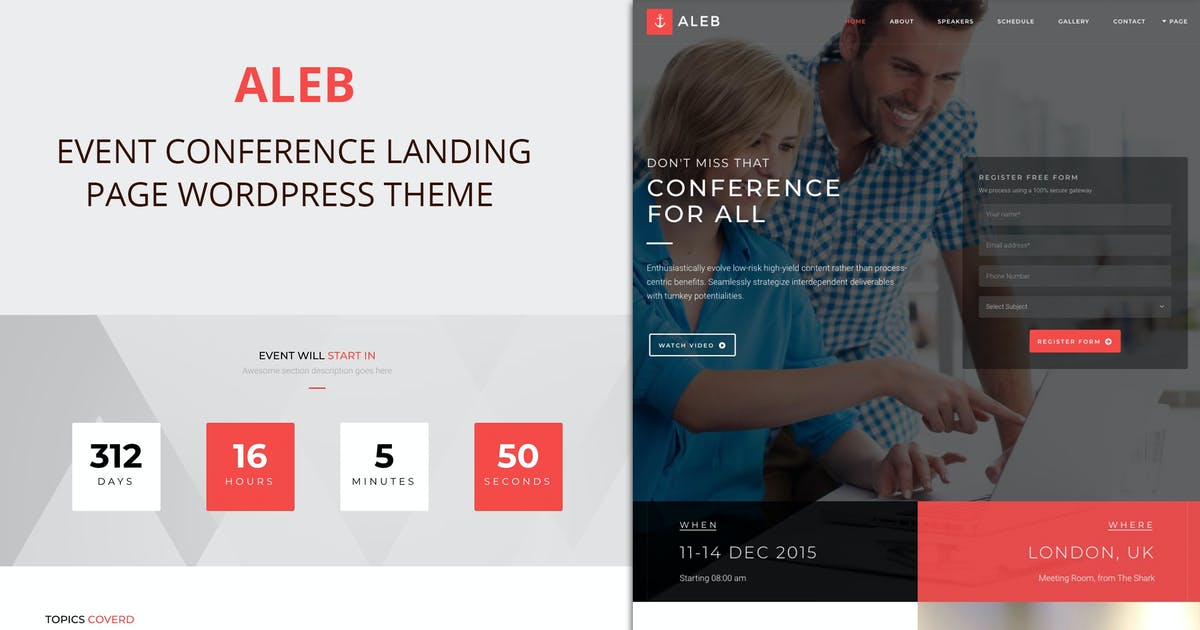 Download Aleb - Event Conference Onepage WordPress Theme by ovatheme