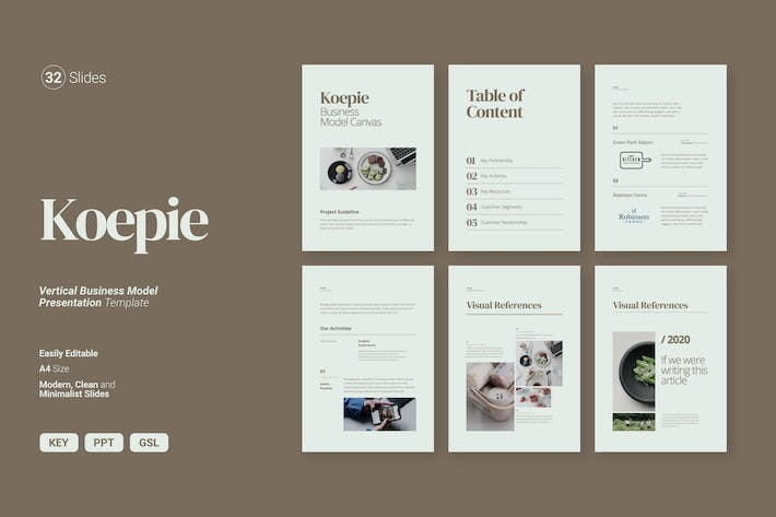 Thumbnail for Koepie - Vector Business Model Canva
