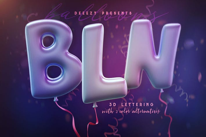 Thumbnail for Balloons – 3D Lettering