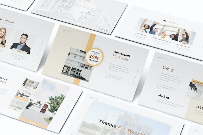 Thumbnail for Apartment Property Keynote Template