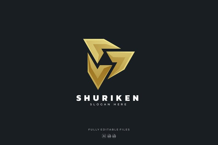 Thumbnail for Shuriken Color Gradient Logo