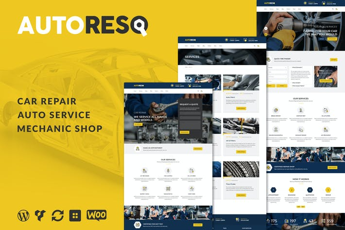 قالب ووردبريس:Autoresq – Car Repair WordPress Theme