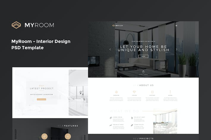 Thumbnail for MyRoom - Interior Design PSD Template