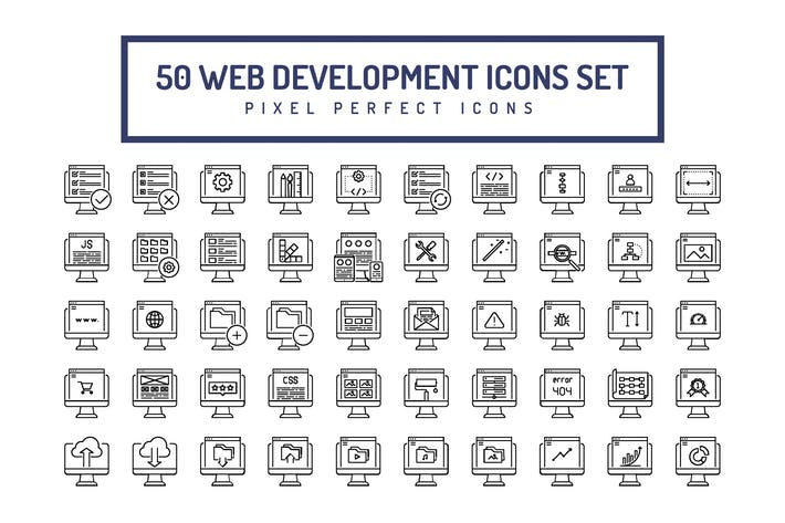 Thumbnail for Web Development Line Icons