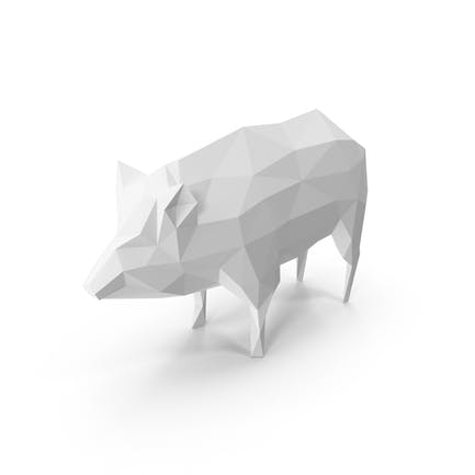 Low Poly Pig