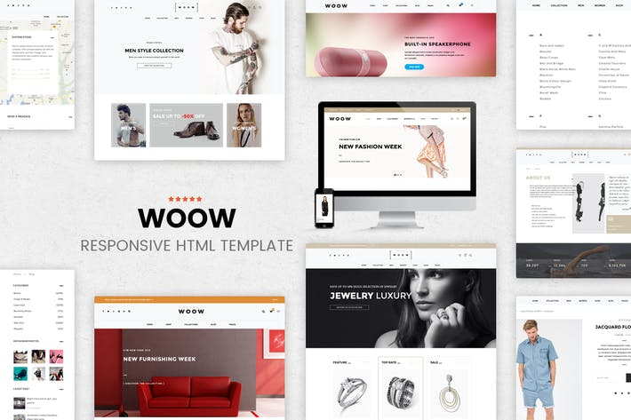 Thumbnail for WOOW - HTML eCommerce Template