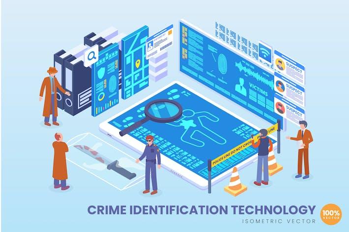 Thumbnail for Isometric Crime Identification Technology Vector