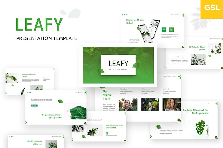 Thumbnail for Leafy - Google Slides Template