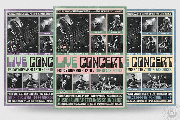 Thumbnail for Live Concert Flyer Template V10