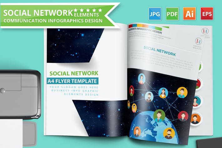Thumbnail for Social Network Infographics Design