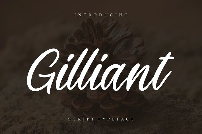 Thumbnail for Gilliant Script Typeface