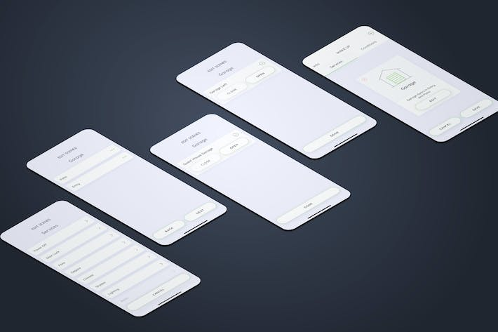 Thumbnail for Create Services Garage Smarthome Mobile UI - FP