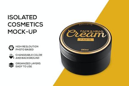 Cream box mockup