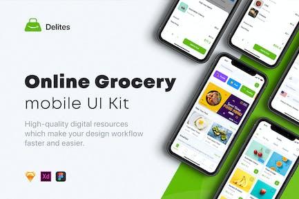 Delites - Online Lebensmittel & Rezepte UI Kit